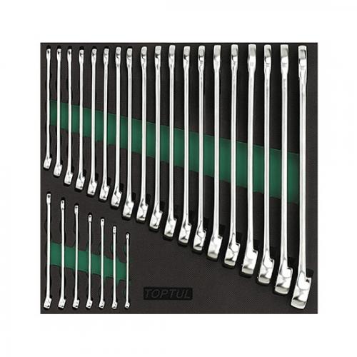 26PCS - 15° Offset Hi-Performance Combination Wrench Set