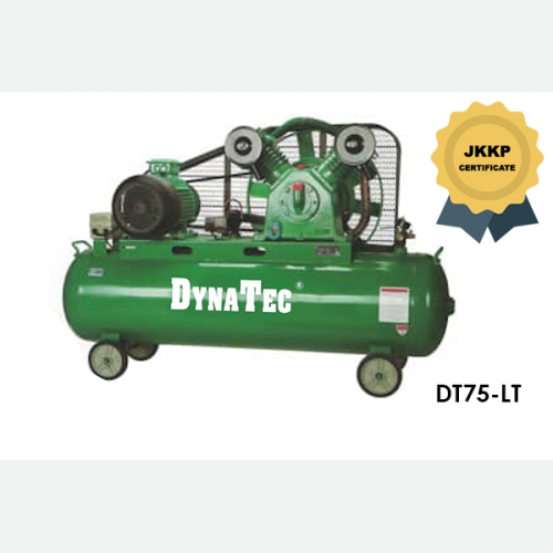 DYNATEC BELT DRIVEN AIR COMPRESSOR ( WITH JKKP CERTIFICATE) DT-75LT