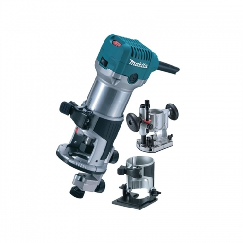Makita Wood Trimmer with 3 Base 6mm 710W 30000rpm 2kg RTO700CX2