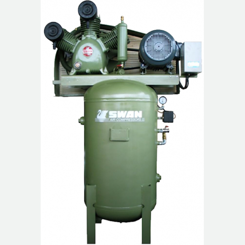 Swan Air Compressor 12Bar 7.5HP 850rpm 633L/min 260kg HWP-307V
