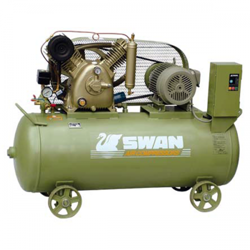 Swan Air Compressor 12Bar, 5Hp, 620rpm, 406L/min, 225kg HVU-205N