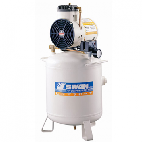 Swan Oil Less Air Compressor 1.5HP 7Bar 77L/min 34kg DR-115-30L