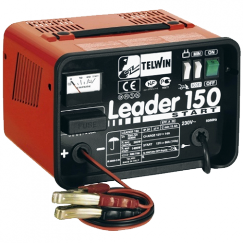 TELWIN Battery Charger 300-1400W, 12V Battery, 6.6kg Leader150