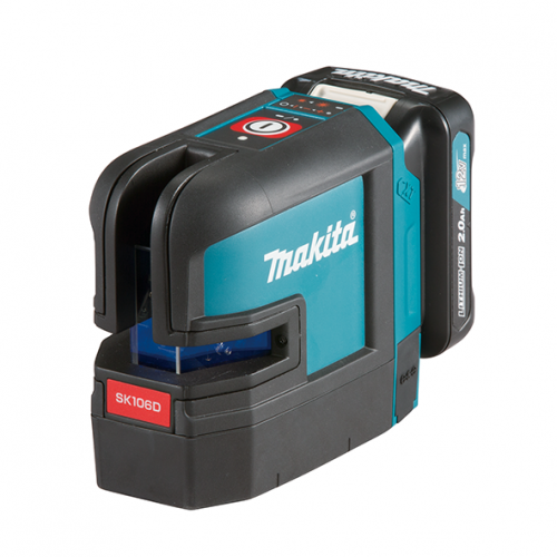 12Vmax Rechargeable Red 4-point Cross Line Laser