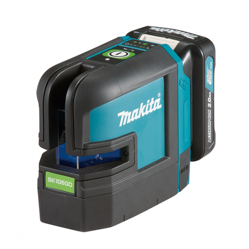 12Vmax Rechargeable Green 4-point Cross Line Laser