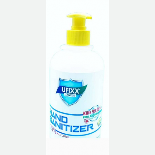 UFIXX 75% ALCOHOL GRADE LIQUID BASED HAND SANITIZER (500ML) * SIRIM CERTIFIED
