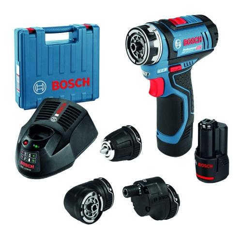 Bosch  Cordless Drill GSR12V-15FC, Brushless Motor, 12V 2.0Ah, 10mm, 30Nm, 1300rpm, 3kg ( SET )