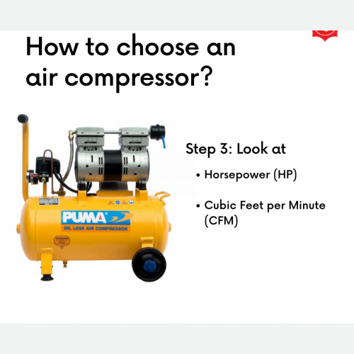How To Choose Air Compressor Step 3