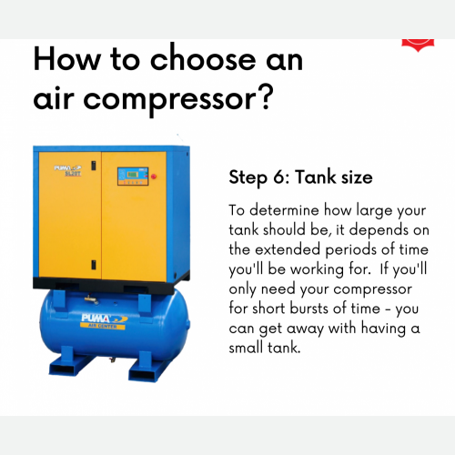 How To Choose Air Compressor Step 6