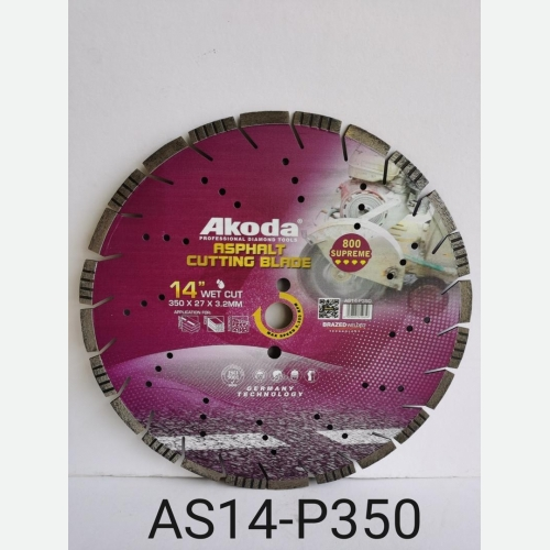 AK 14''DIAMOND CUTTING BLADE ASPHALT BLADE PURPLE  AS14-P350