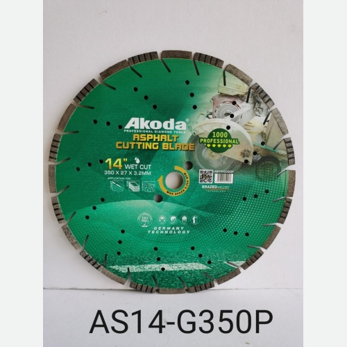 AK 14''DIAMOND CUTTING BLADE ASPHALT BLADE GREEN  AS14-G350P