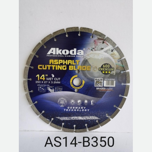 AK 14''DIAMOND CUTTING BLADE ASPHALT BLADE BLUE SU AS14-B350