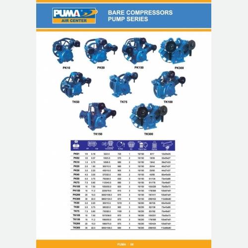 Bare Air compressor pump series