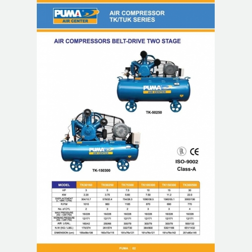 Air Compressor Belt Drive Two Stage
