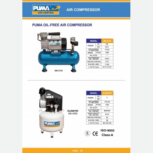 Puma Oil Free Air Compressor