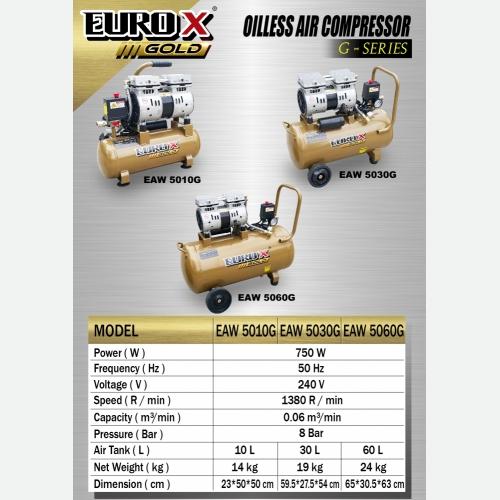 EURO X EAW 5010G 5030G 5060G (L) Oil-less Air Compressor