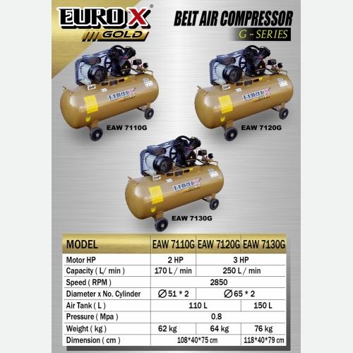 EURO X EAW 7110G 7120G 7130G (L) Belt Air Compressor