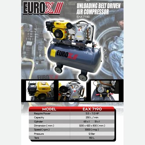 EURO X EAX 7190 (FINAL) Unloading Belt Driven Air Compressor