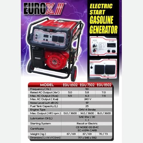 EURO X EGU 6502 7502 8502(L) Electric Start Gasoline Generator
