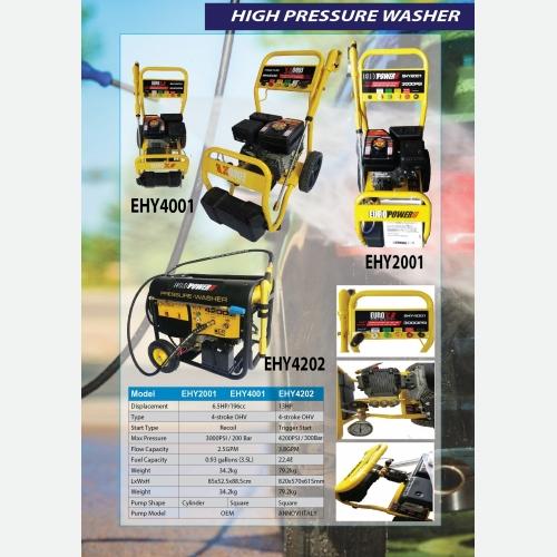 EURO X EHY4001 EHY2001 EHY4202 (NEW) High Pressure Washer