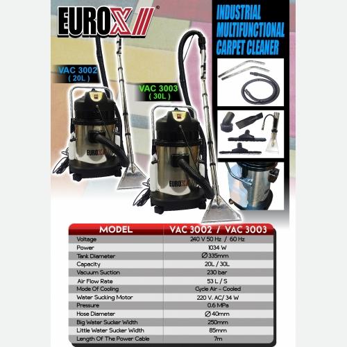 EUROX  VAC3002 (FINAL) INDUSTRIAL MULTIFUNCTIONAL CARPET CLEANER