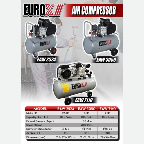EUROX EAW 2524 3050 7110 (L) AIR COMPRESSOR