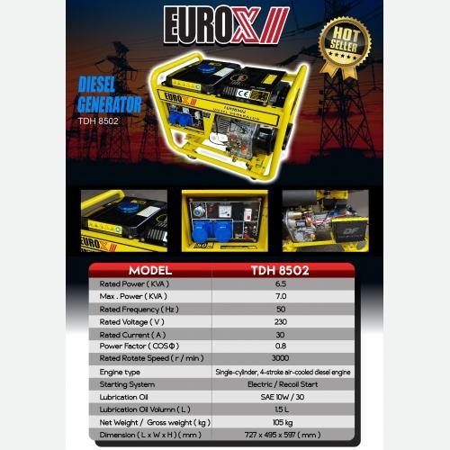 EUROX TDH 8502(FINAL) DIESEL GENERATOR