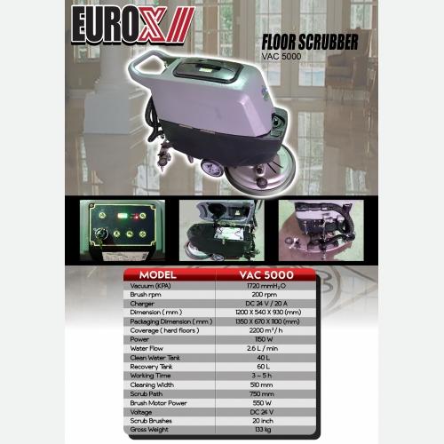 EUROX VAC 5000(FINAL) FLOOR SCRUBBER