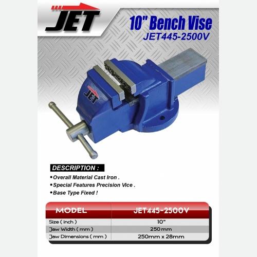 EUROX JET445-2500V 10'' BENCH VISE