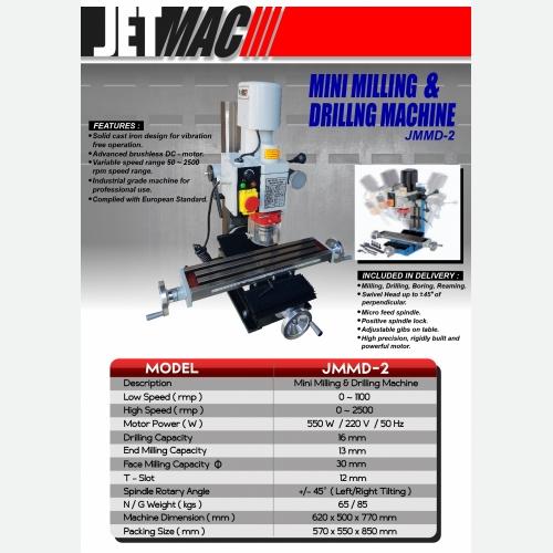 EUROX JETMAC JMMD2 MINI MILLING & DRILLING MACHINE