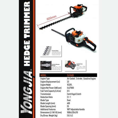 YONGJIA SLP600 HEGDE TRIMMER