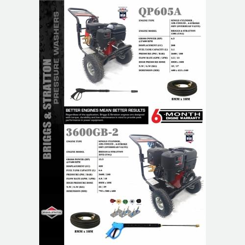 QP605A & 3600GB-2 High Pressure Cleaner