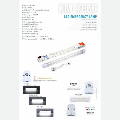 KM7660 LED EMERGENCY LIGHT