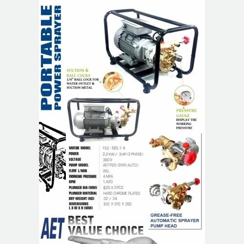AET P25-3XM PORTABLE POWER SPRAYER (3 PHASE)