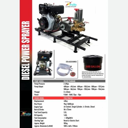FEILO DIESEL ENGINE WITH HS380 POWER SPRAYER