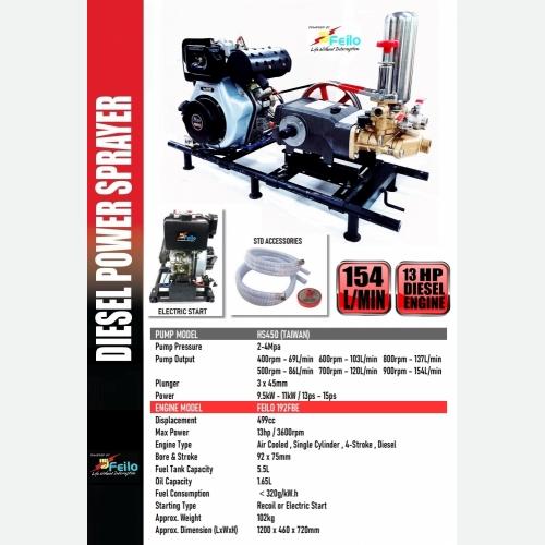 FEILO DIESEL ENGINE WITH HS450 POWER SPRAYER
