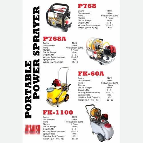 POWER SPRAYER P768 & P768A & FK1100