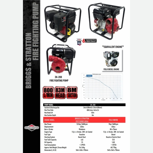 3H-208 FIRE FIGHTING PUMP WITH ENGINE
