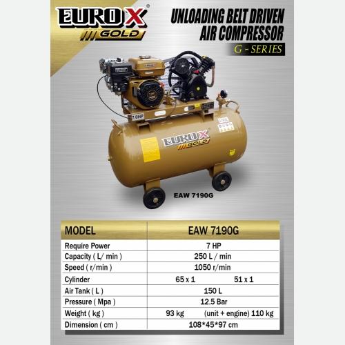 EURO X EAW 7190G (L) Unloading Belt Driven Air Compresso