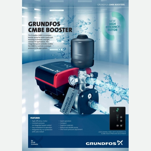 Grundfos CMBE10-54 Inverter Low Noise Home Water Pump Water Booster Pump
