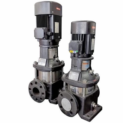 Unoflow UVP32-20: Vertical Multistage Pump, Power 4000W, 3Ø, Flow 666L/min, Head 36m, Inlet x Outlet