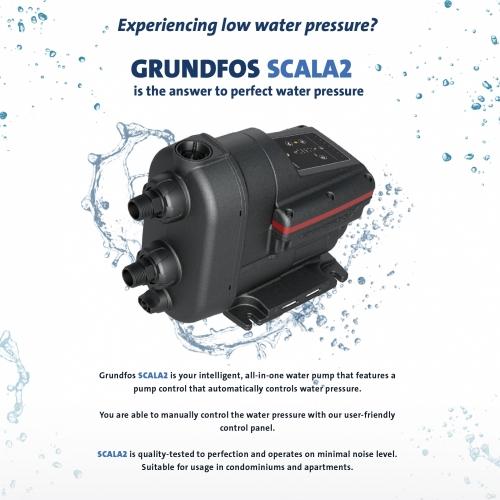 Grundfos  Booster Water Pump Scala2
