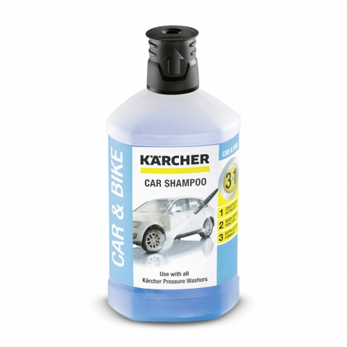 KARCHER CAR SHAMPOO 3-IN-1, 1 L