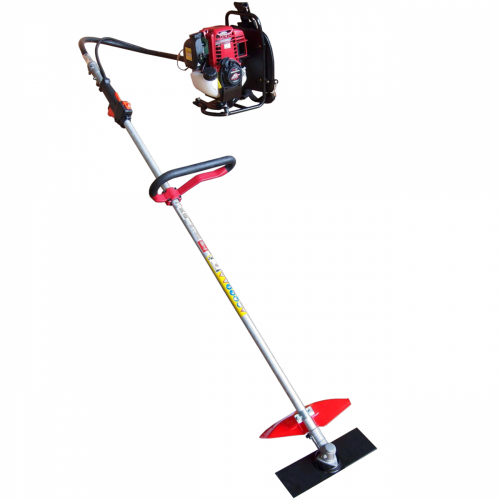 Backpack brush cutter with Honda Gasoline 4 stroke Engine.