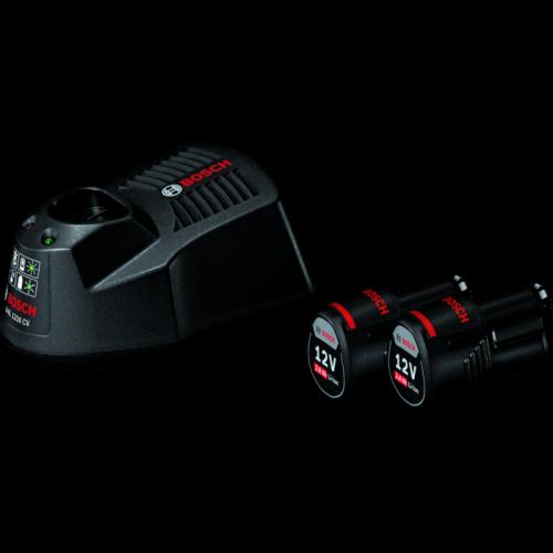Bosch Li-Ion Battery 12Vx1.5Ah(2pc) & Fast Charger GAL1230CV Set