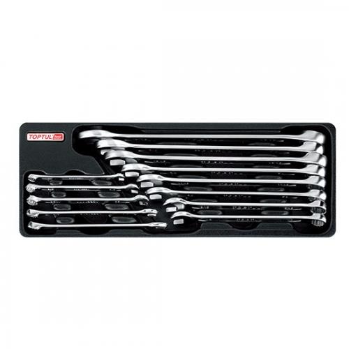 13PCS - 15° Offset Standard Combination Wrench Set (SAE)