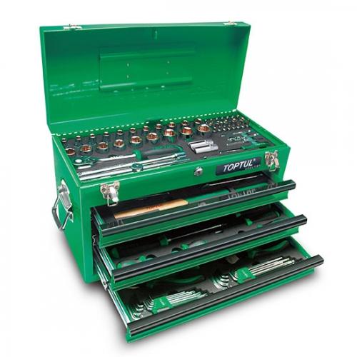 99PCS Professional Mechanical Tool Set W/3-Drawer Tool Chest