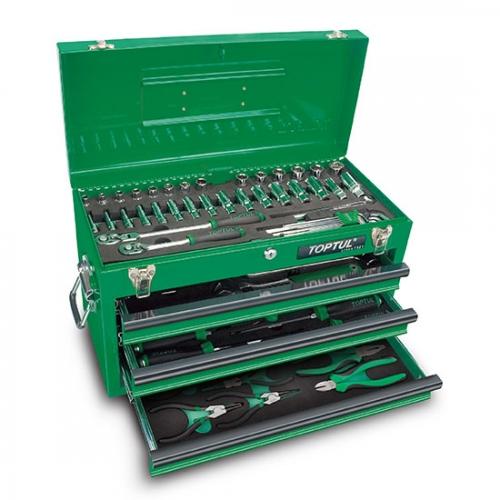 82PCS Professional Mechanical Tool Set W/3-Drawer Tool Chest