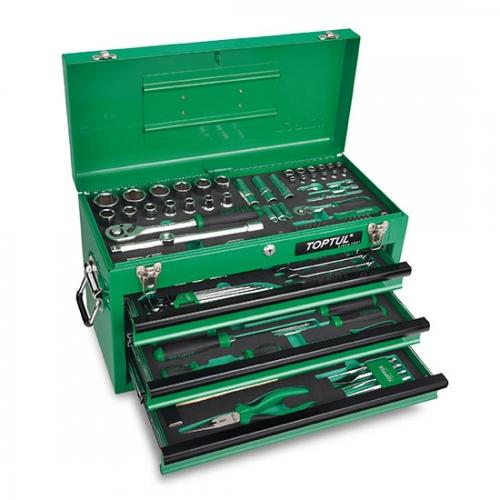 114PCS Professional Mechanical Tool Set W/3-Drawer Tool Chest