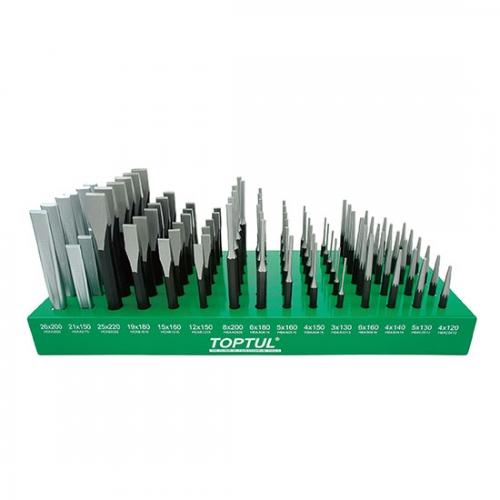 90PCS Flat Chisel & Punch Shelf Set